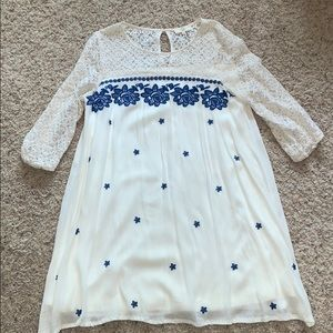 Women's lace and flower detail dress